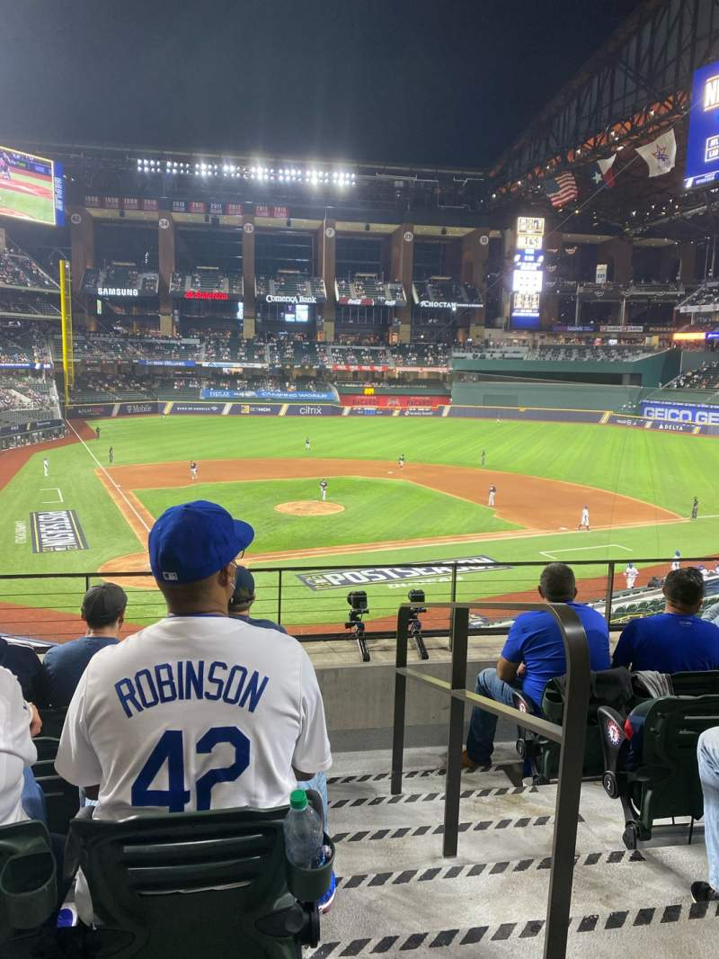 Seating view for Globe Life Field Section 116 Row 5 Seat 20