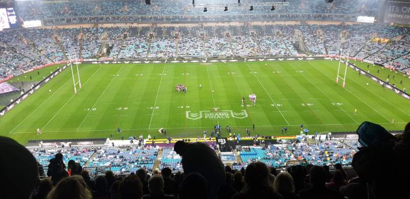 Seating view for ANZ Stadium Section 626-1 Row 25 Seat 16
