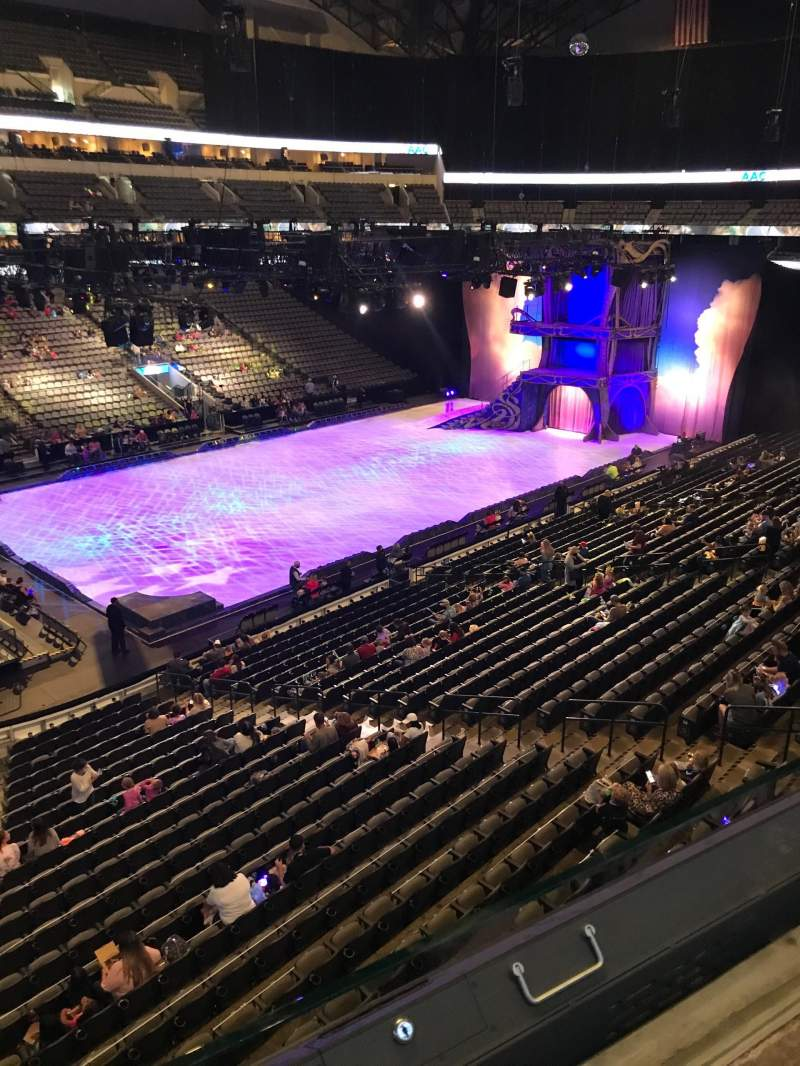 Seating view for American Airlines Center Section 213 Row A Seat 1-5