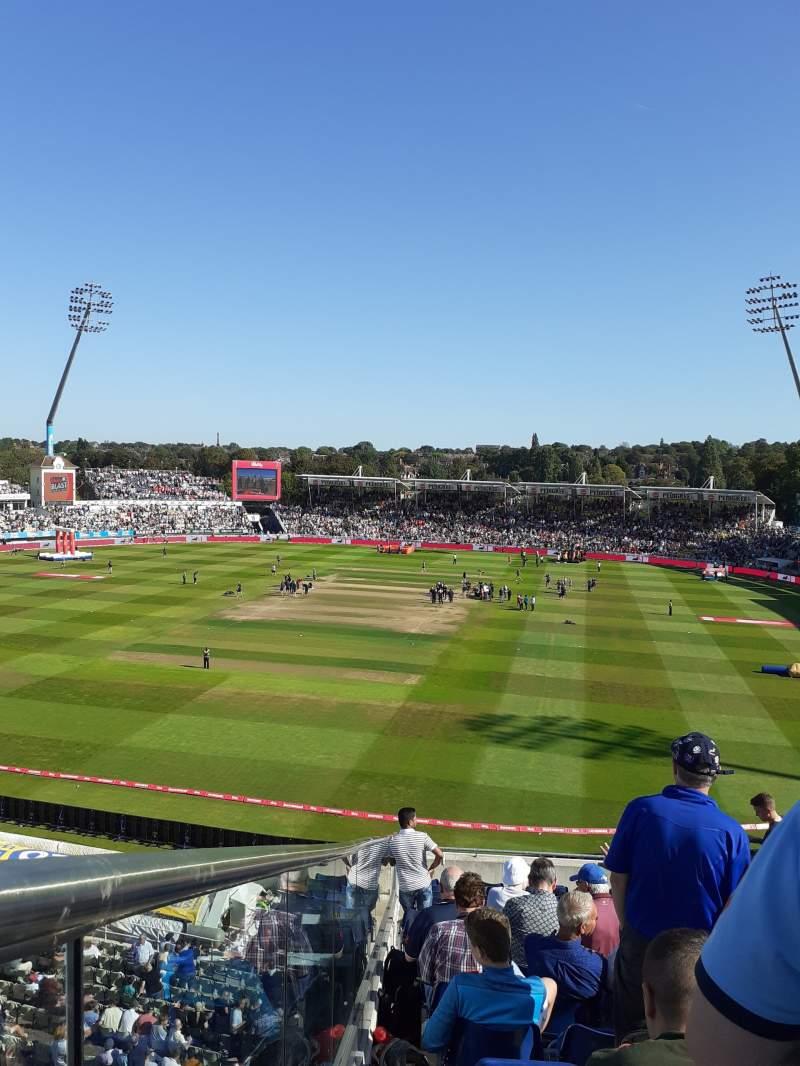 Seating view for Edgbaston Cricket Ground