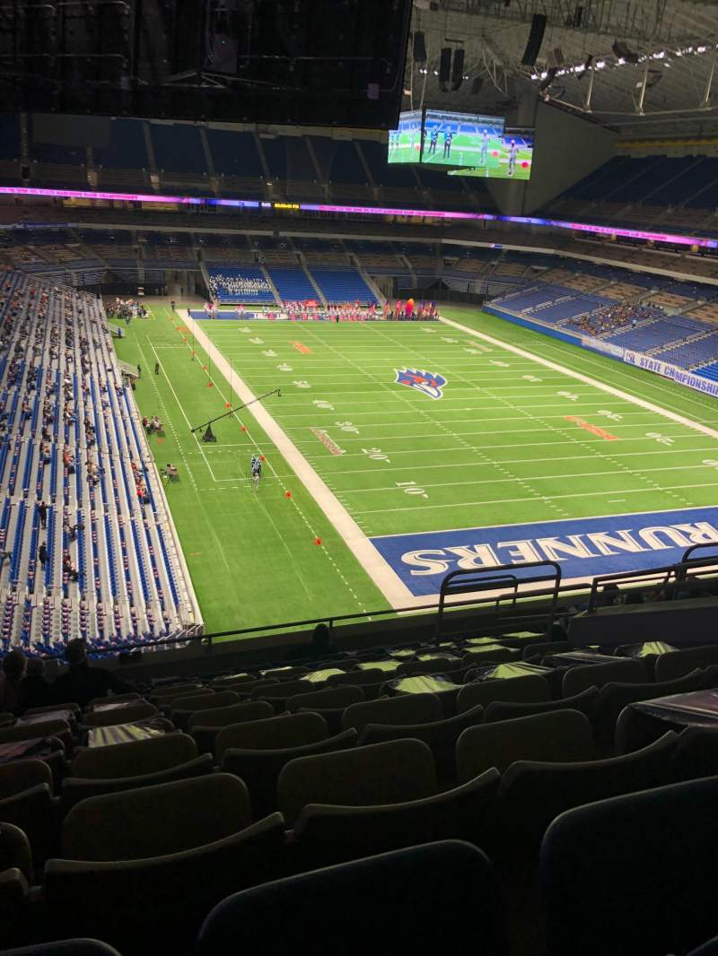 Seating view for Alamodome Section 304 Row 11 Seat 12