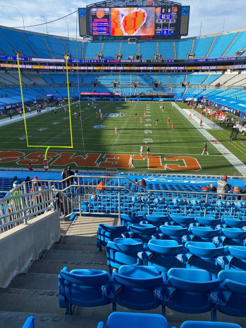 Seating view for Bank of America Stadium Section 228 Row 6 Seat 18