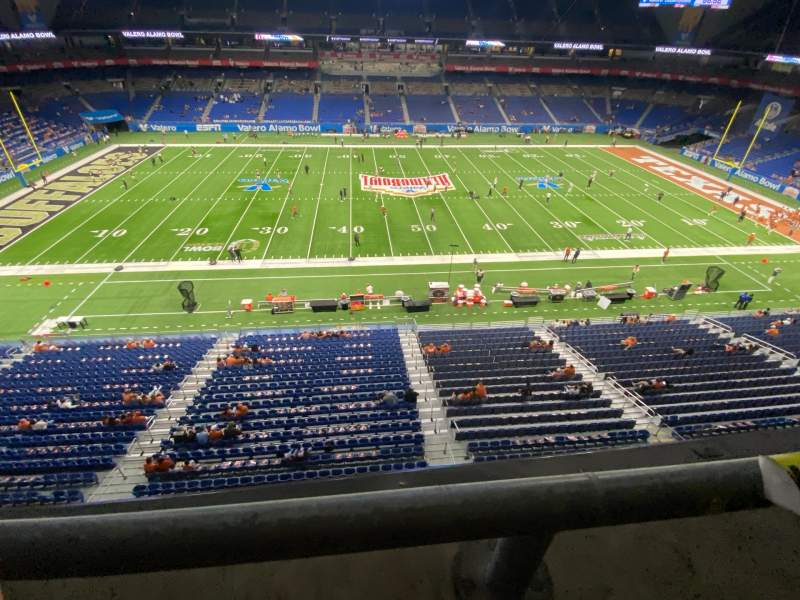 Seating view for Alamodome Section 337 Row 1 Seat 17
