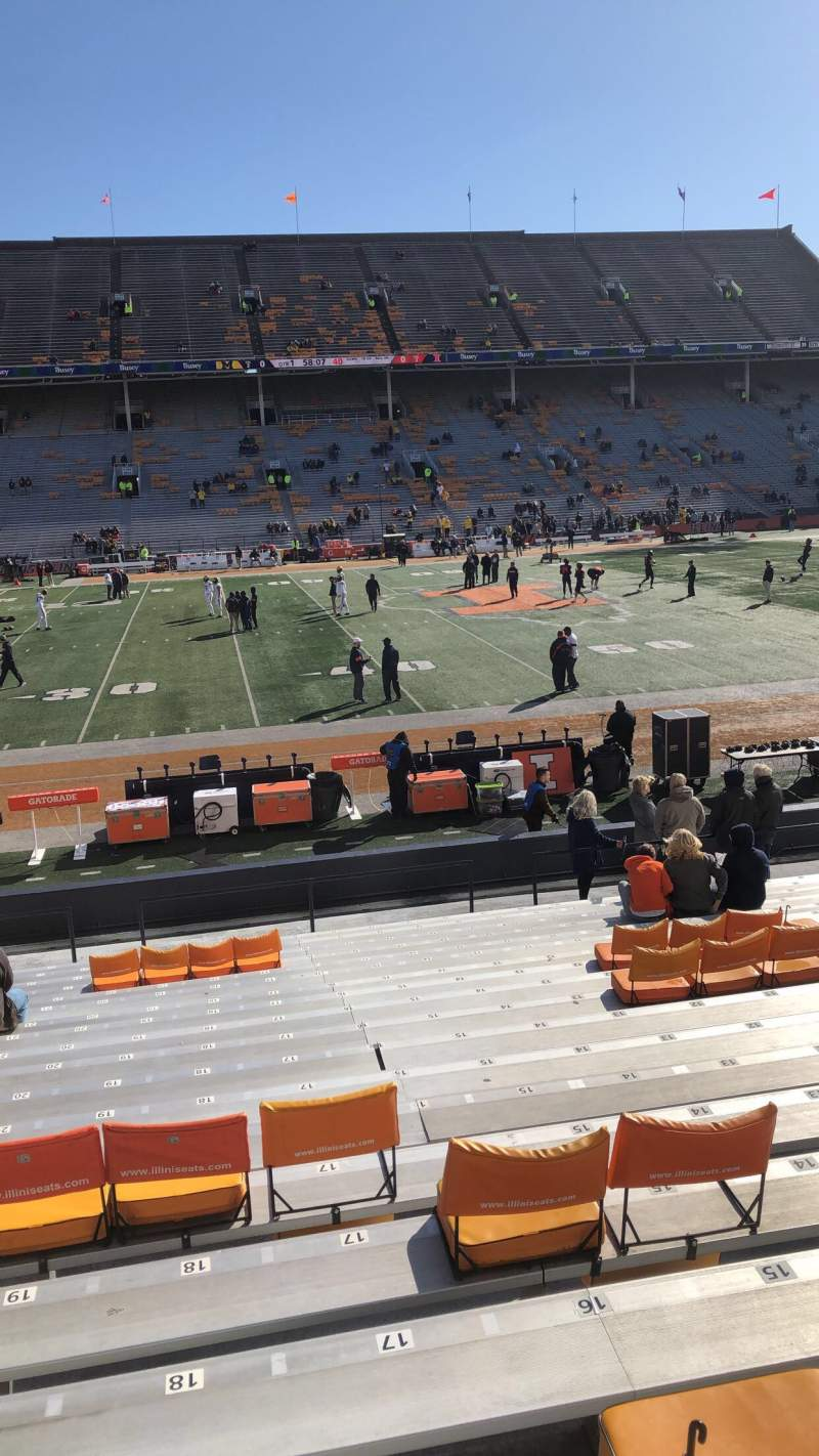 Seating view for Memorial Stadium (Champaign) Section 129 Row 17 Seat 17