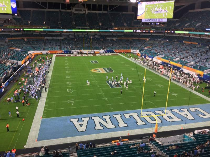 Seating view for Hard Rock Stadium Section 334 Row 1 Seat 1