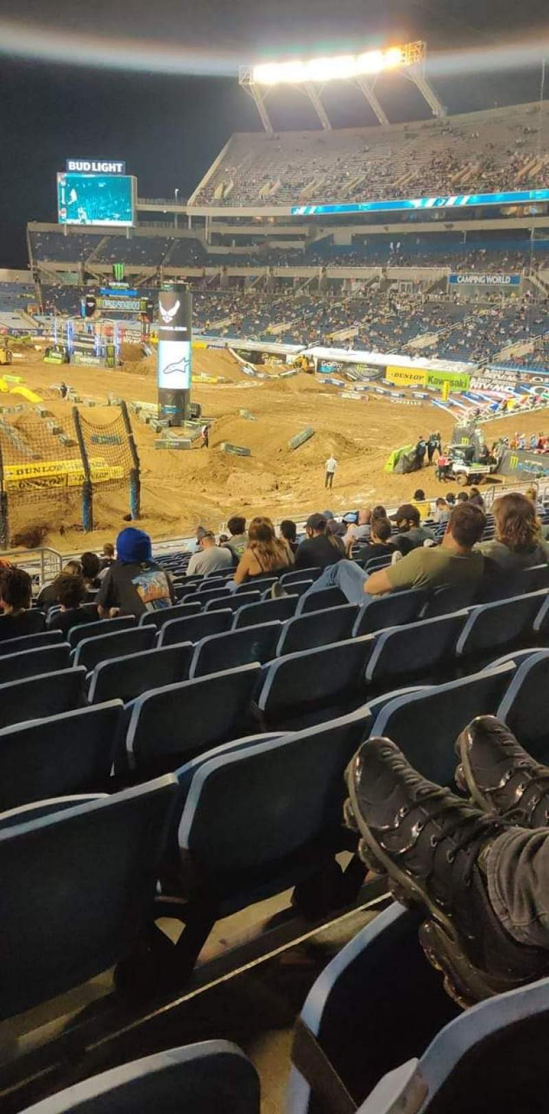 Seating view for Camping World Stadium Section 123 Row Cc Seat 35