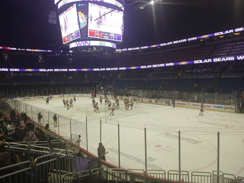Seating view for Amway Center Section 103 Row 15 Seat 5