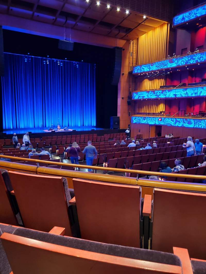 Seating view for Tobin Center for Performing Arts Section Left Orchestra Row YY Seat 6