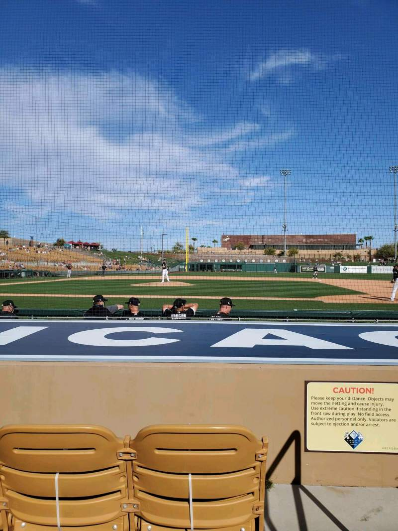 Seating view for Camelback Ranch Section 9 Row 6 Seat 1