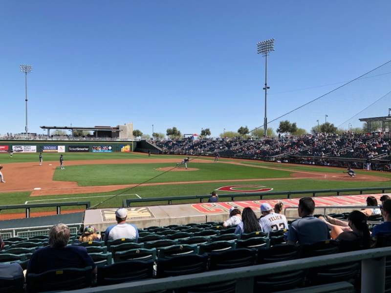 Seating view for Goodyear Ballpark Section 107a Row Q Seat 12