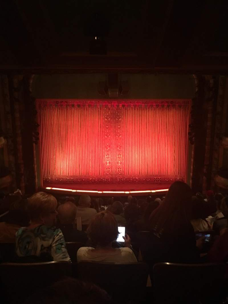 Seating view for New Amsterdam Theatre Section Mezzanine C Row NN Seat 108