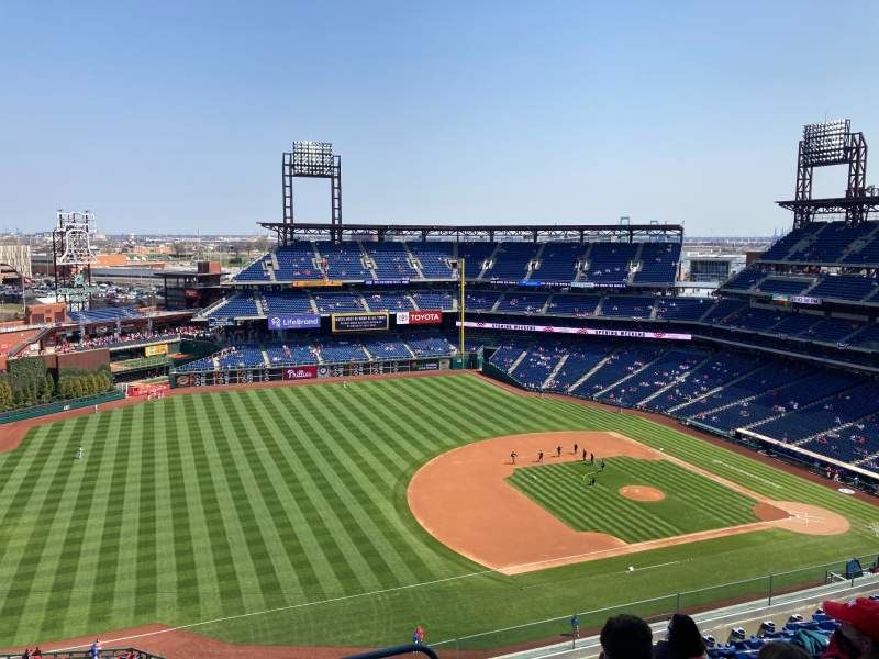 Seating view for Citizens Bank Park Section 430V Row 9 Seat A