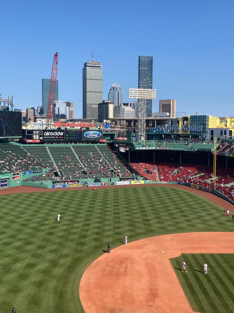 Seating view for Fenway Park
