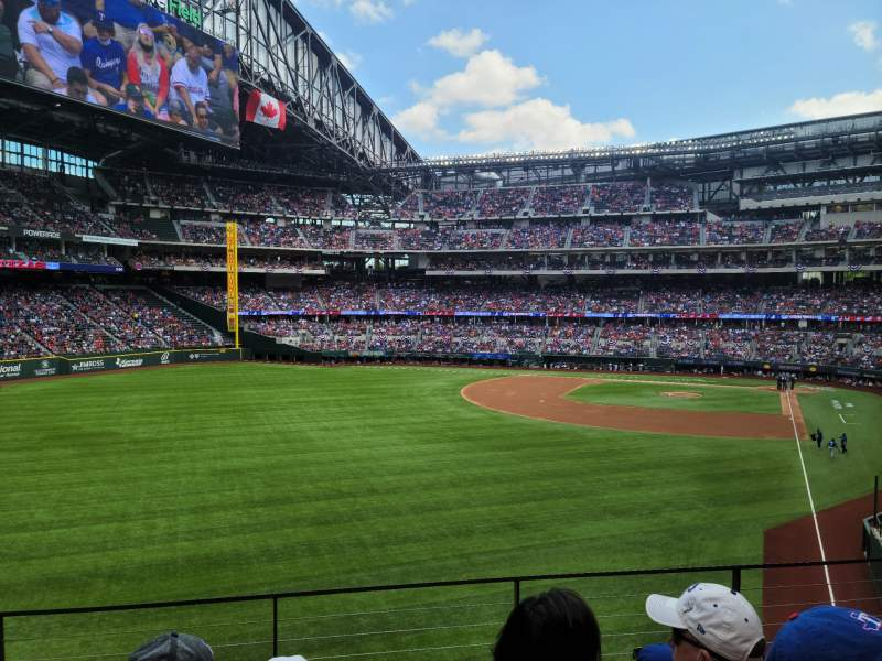 Seating view for Globe Life Field Section 142 Row 4 Seat 11