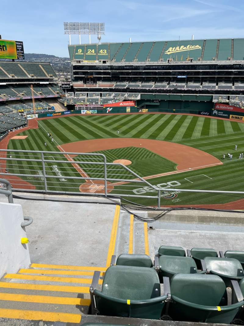 Seating view for Oakland Coliseum Section 315 Row 5 Seat 16