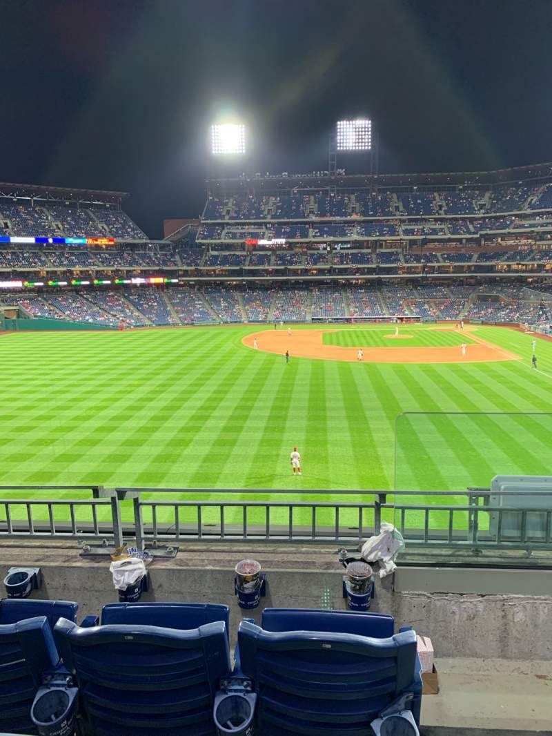 Seating view for Citizens Bank Park Section 243 Row 3 Seat 1
