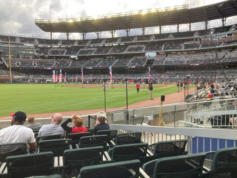 Seating view for Truist Park Section 41 Row 8 Seat 6