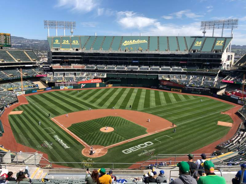 Seating view for Oakland Coliseum Section 316 Row 15 Seat 4
