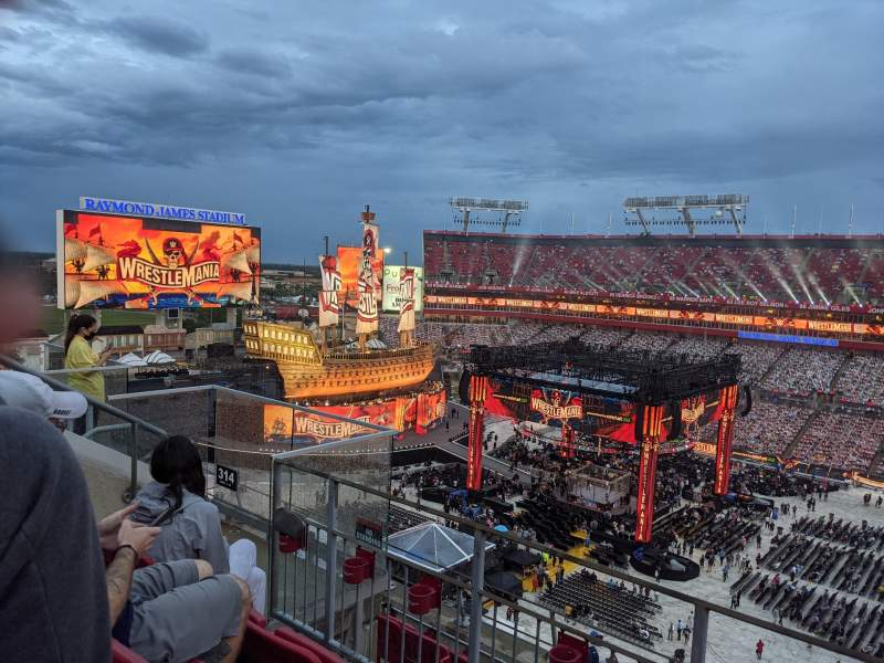 Seating view for Raymond James Stadium Section 314 Row C Seat 11