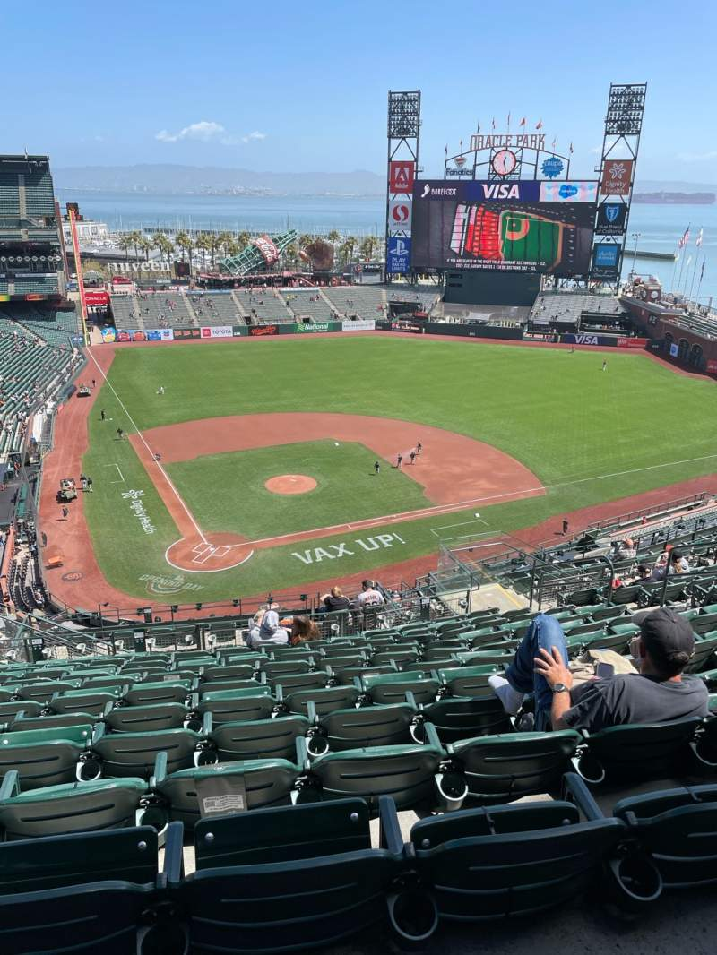 Seating view for Oracle Park Section VR312 Row 12 Seat 12