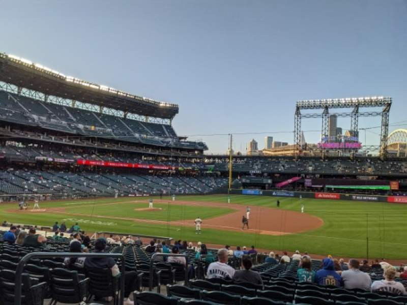 Seating view for T-Mobile Park Section 119 Row 27 Seat 17