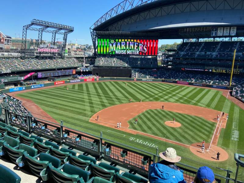 Seating view for T-Mobile Park Section 334 Row 4 Seat 2