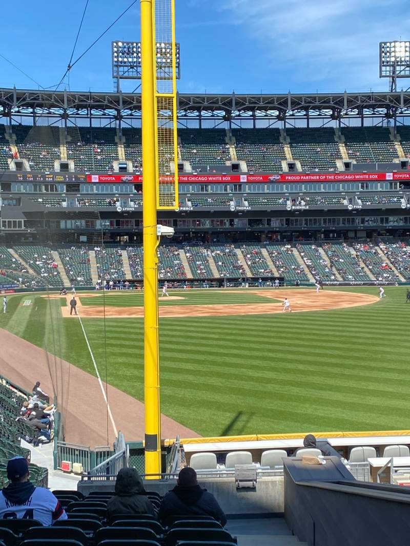 Seating view for Guaranteed Rate Field Section 108 Row 24 Seat 2
