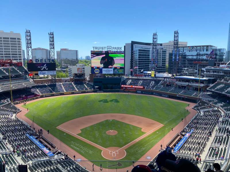 Seating view for Truist Park Section 426 Row 8 Seat 19