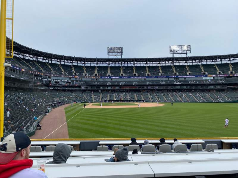 Seating view for Guaranteed Rate Field Section 107 Row G8 Seat 18