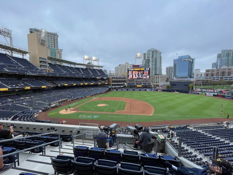 Seating view for PETCO Park Section 209 Row 7 Seat 4