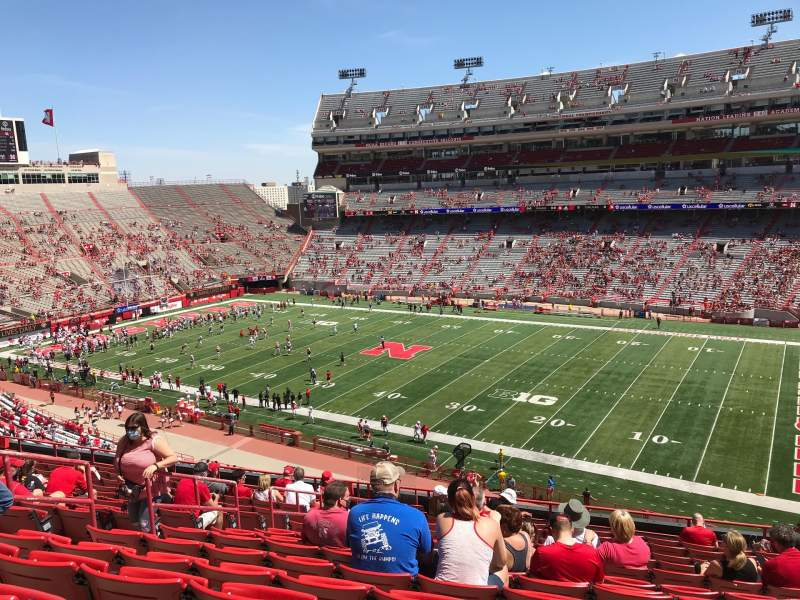 Seating view for Memorial Stadium (Lincoln) Section 222 Row 16 Seat 16