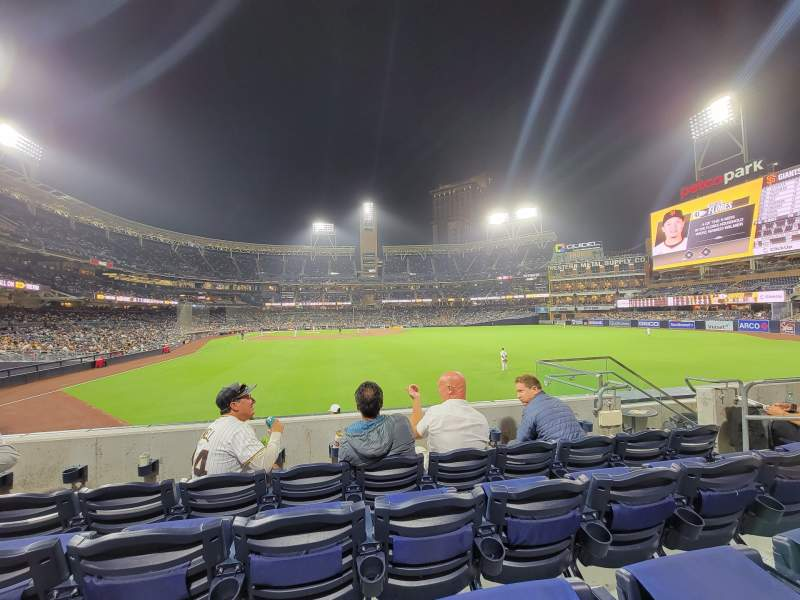 Seating view for PETCO Park Section 131 Row 4 Seat 13