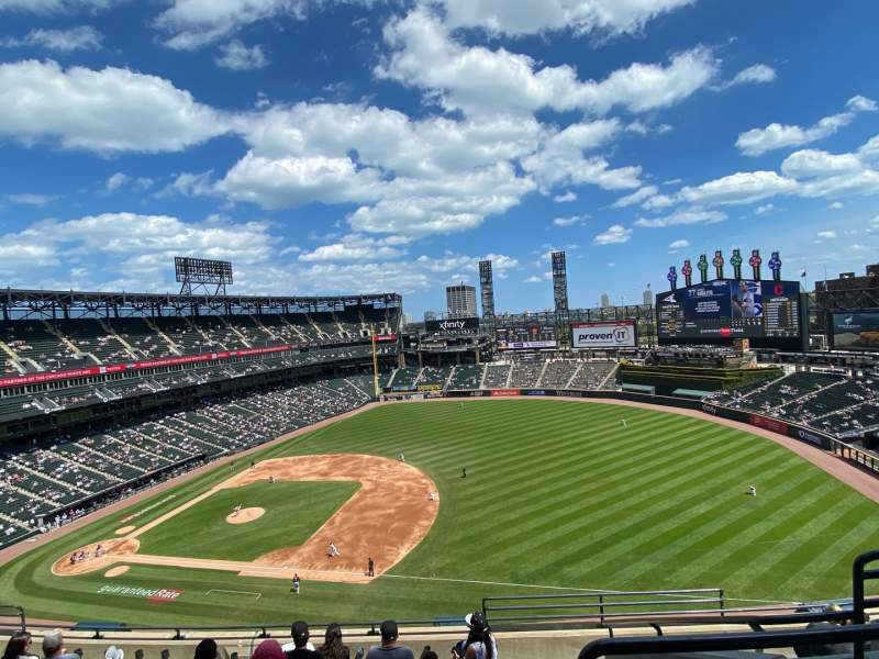 Seating view for Guaranteed Rate Field Section 520 Row 8 Seat 4