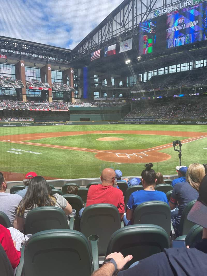 Seating view for Globe Life Field Section 13 Row 7 Seat 7