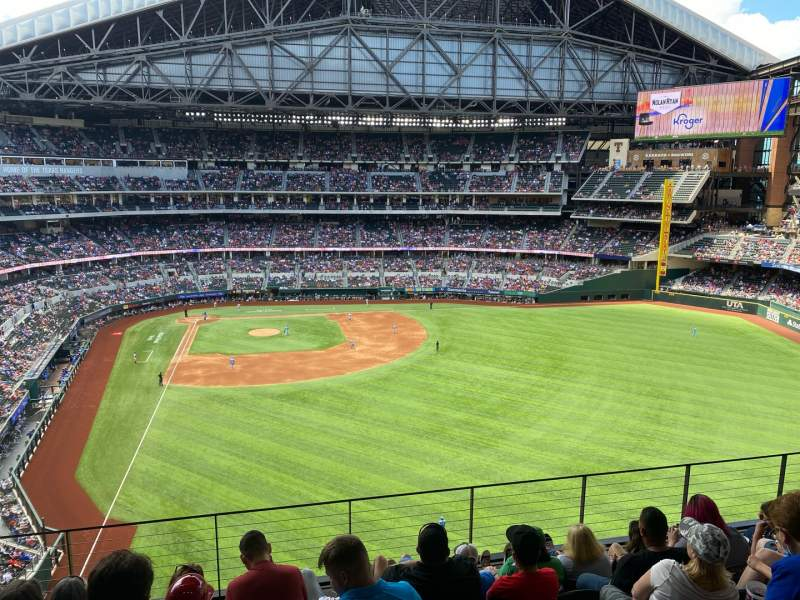 Seating view for Globe Life Field Section 233 Row 6 Seat 6