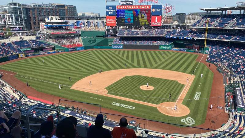 Seating view for Nationals Park Section 311 Row E Seat 17