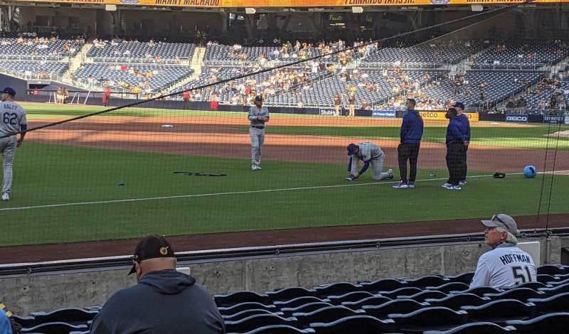 Seating view for PETCO Park Section 118 Row 11 Seat 1