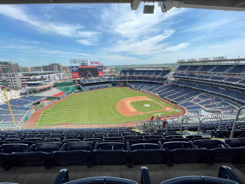 Seating view for Nationals Park Section 405 Row N Seat 5
