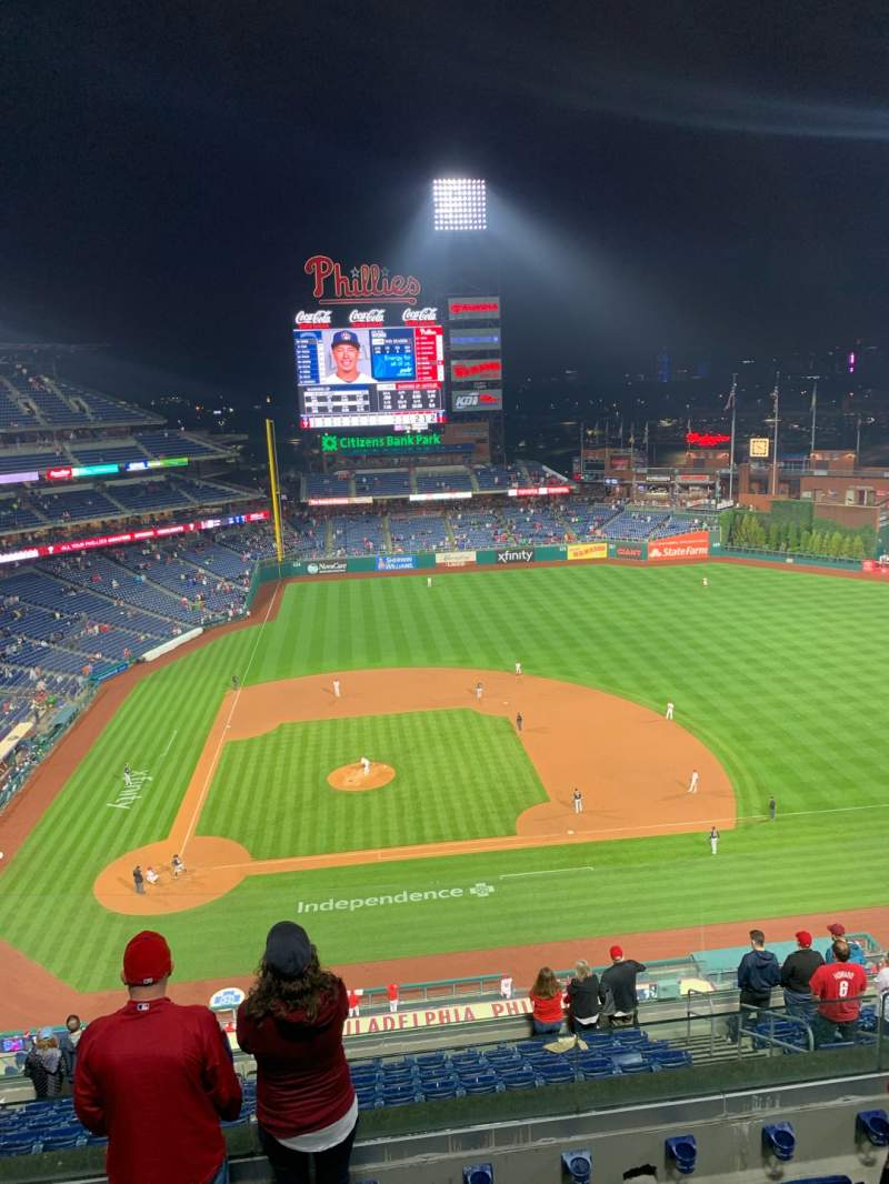 Seating view for Citizens Bank Park Section 416 Row 5 Seat 9