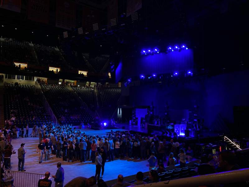 Seating view for Thompson-Boling Arena Section 105 Row 10 Seat 1