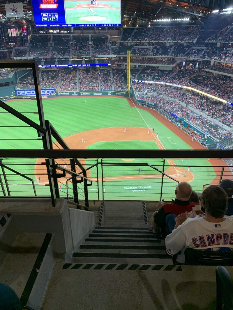 Seating view for Globe Life Field Section 308 Row 5 Seat 2