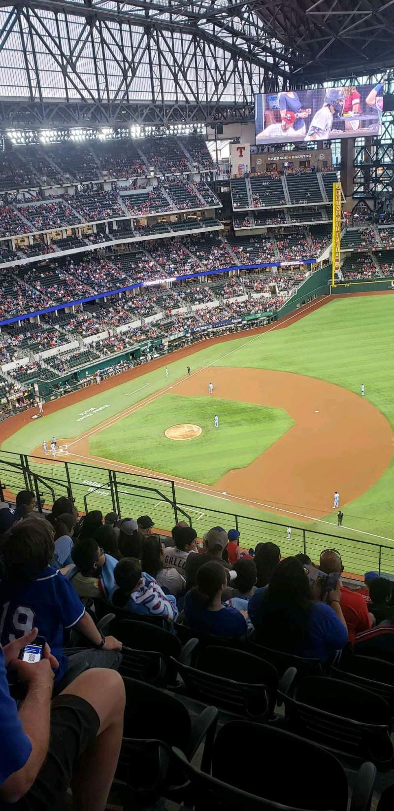 Seating view for Globe Life Field Section 319 Row 10 Seat 13
