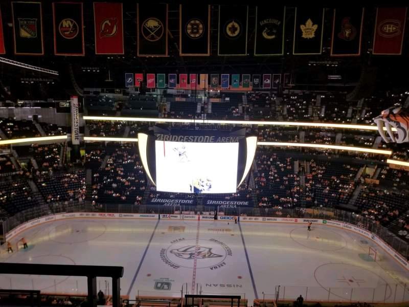 Seating view for Bridgestone Arena Section 326 Row J Seat 20