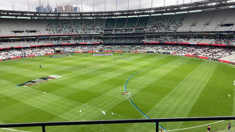 Seating view for Melbourne Cricket Ground Section Q12 Row C Seat 7