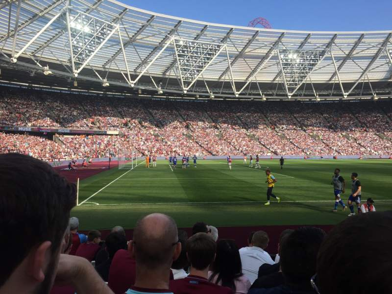 Seating view for London Stadium Section 107 Row 7 Seat 112