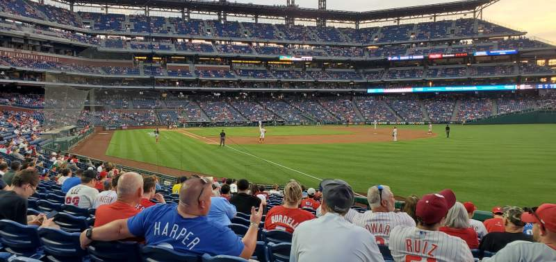 Seating view for Citizens Bank Park Section 109 Row 17 Seat 3
