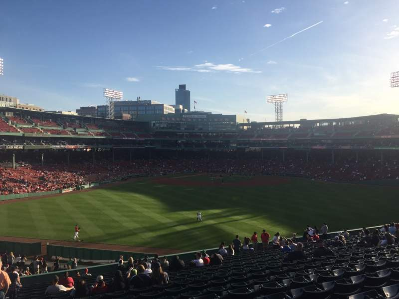 Seating view for Fenway Park Section Bleacher 37 Row 28 Seat 28