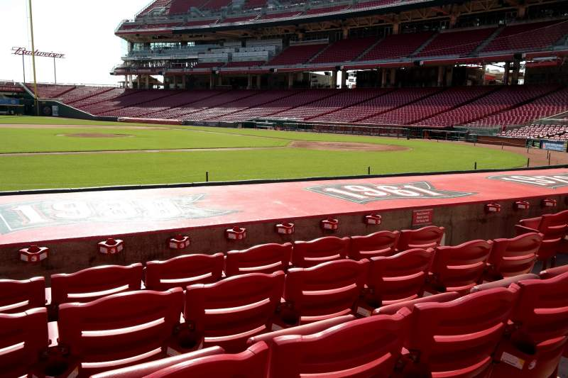 Seating view for Great American Ball Park Section 116 Row I Seat 7
