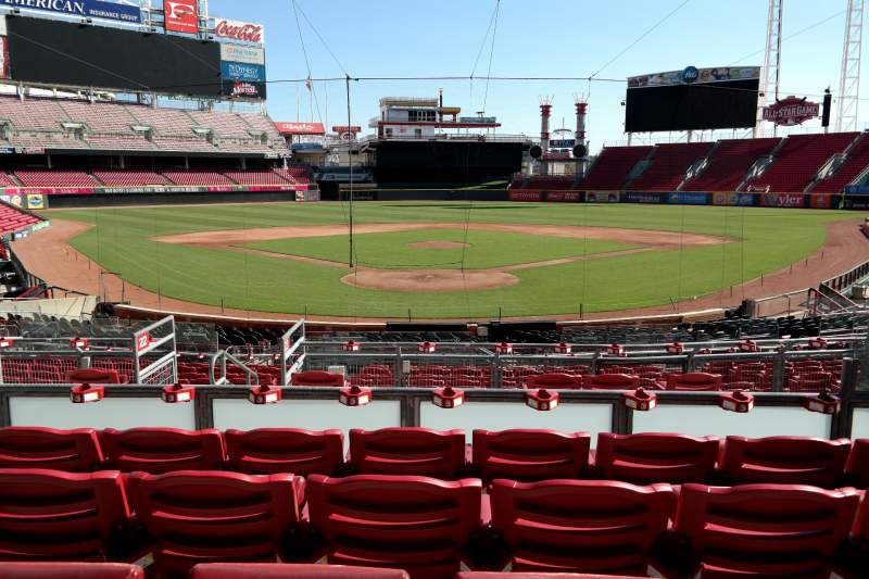 Seating view for Great American Ball Park Section 123 Row E Seat 6