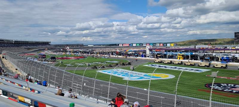 Seating view for Charlotte Motor Speedway Section Ford h Row 19 Seat 21
